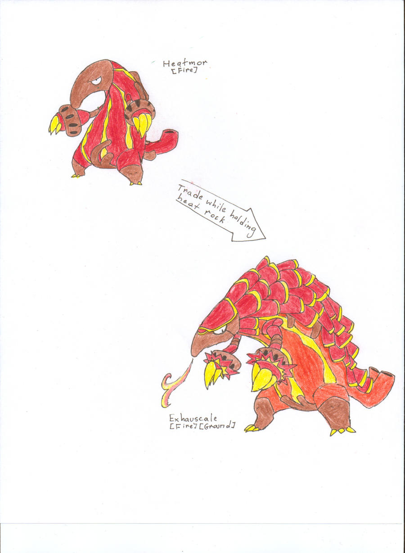 Fakemon Heatmor evolution by Scrafty112