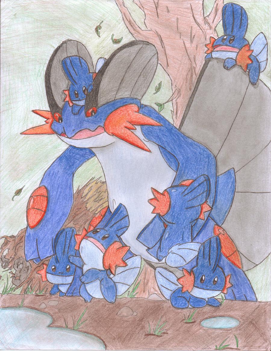 A Bunch Of Baby Mudkipz by Scrafty112