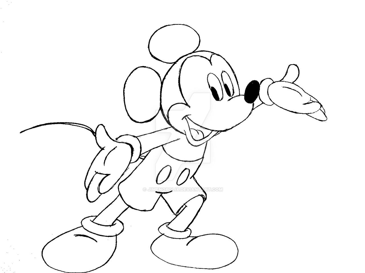 Line Art Mickey Mouse : Another mickey mouse drawing by jimenopolix on deviantart