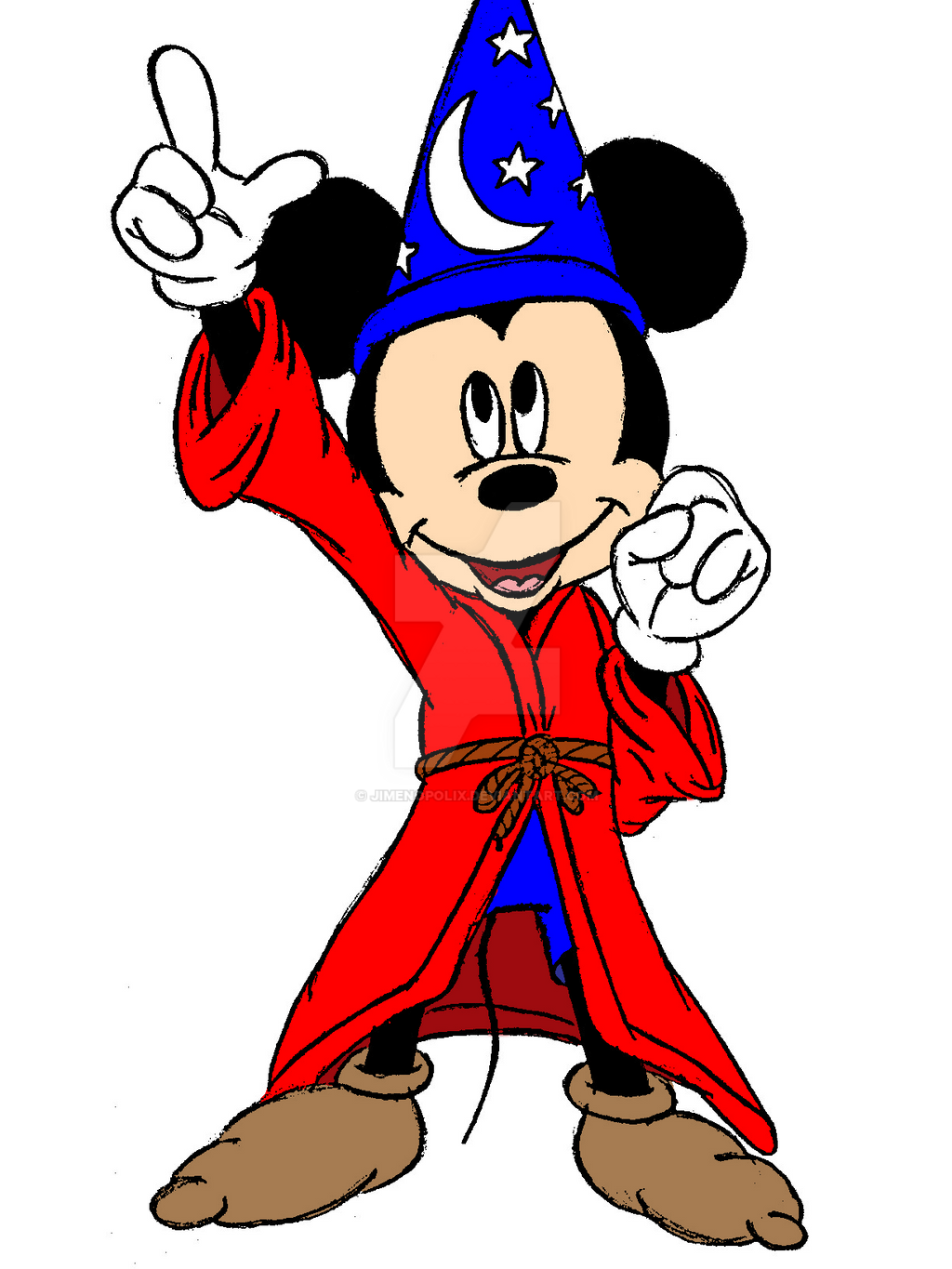 Sorcerer Mickey (Colored) by JIMENOPOLIX