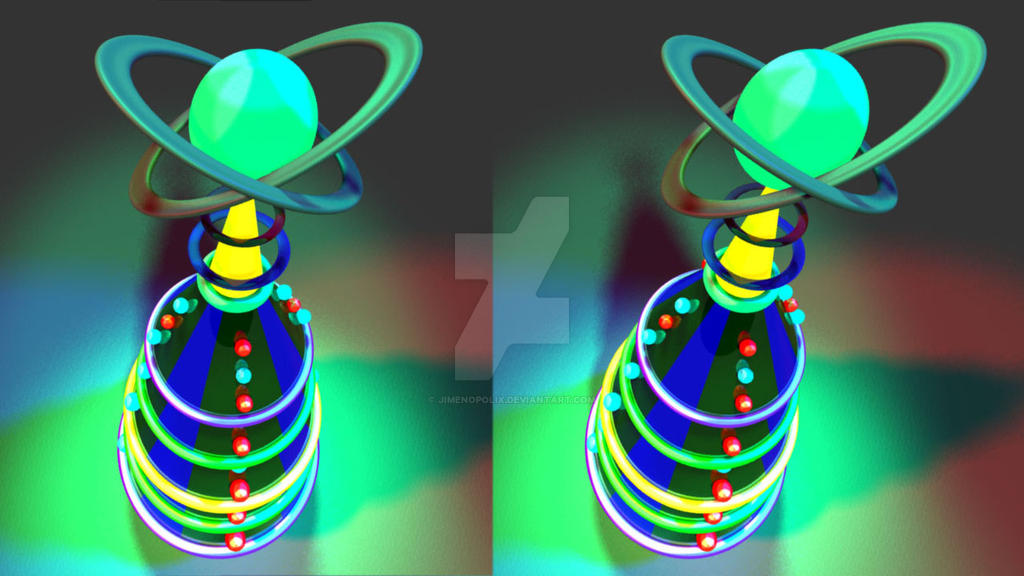 Jimenopolix Christmas Tree Cross Eye 3d By Jimenopolix On Deviantart