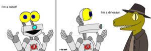 Robob the Robot and Rob the Dinosaur