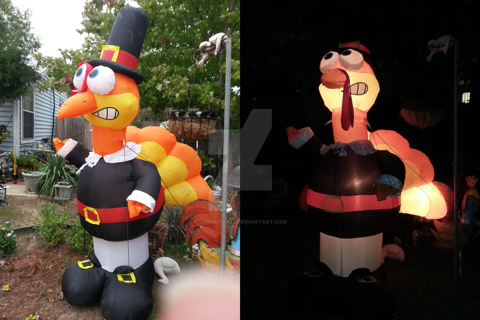 Decorating Ideas > Inflatable Thanksgiving Turkey By JIMENOPOLIX On DeviantArt ~ 184201_Thanksgiving Yard Decorations Inflatable