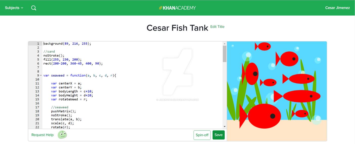 KHAN ACADEMY Drawing - Fish Tank by JIMENOPOLIX on DeviantArt