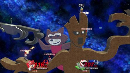 Smash Bros. Custom Stage - Rocket and Groot