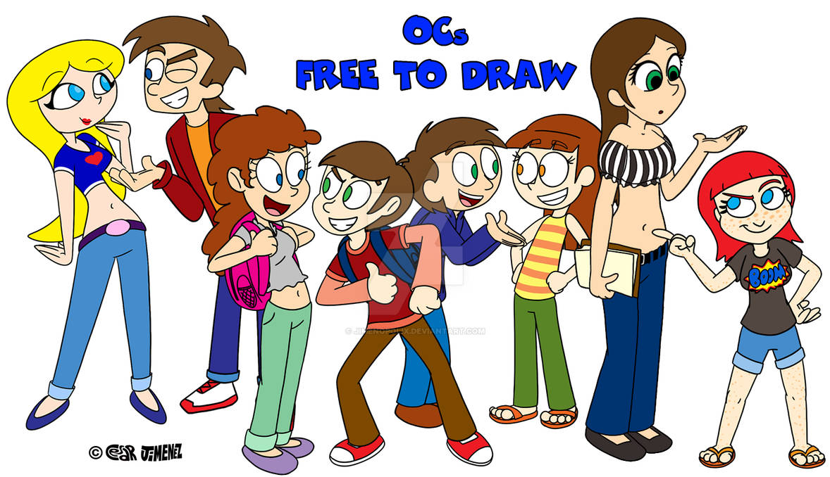New OCs Free to Draw!