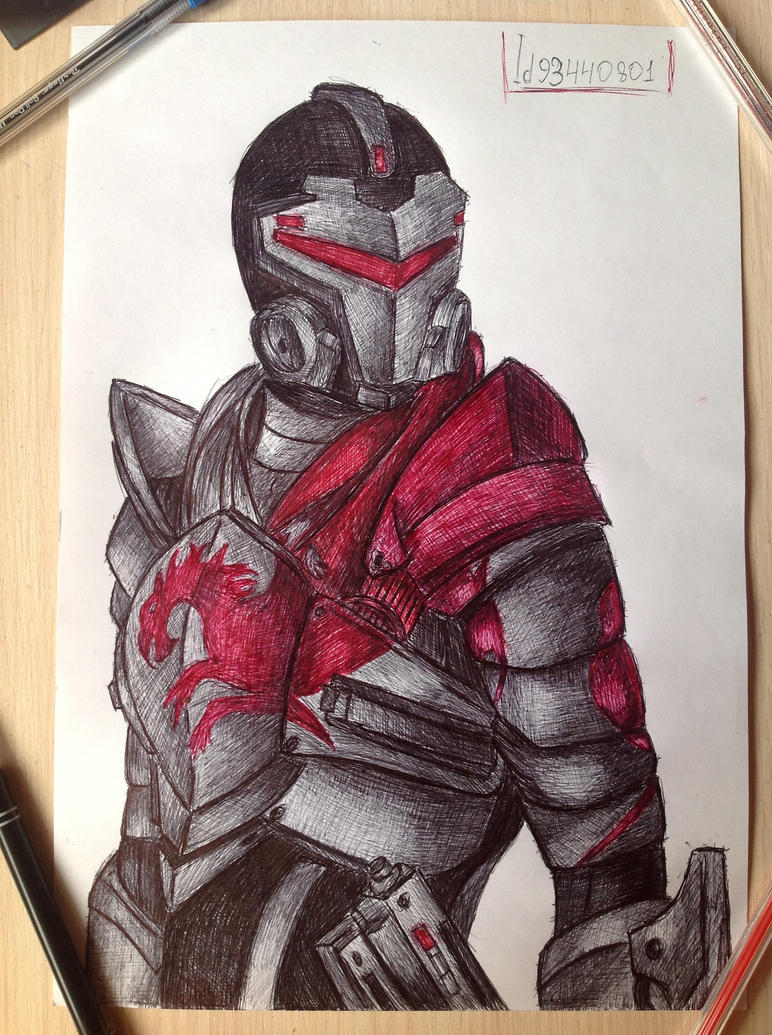 Blood Dragon Armor pen drawing by Sofika0707 on DeviantArt