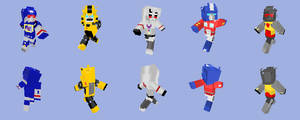 Minecraft Transformers Skins by Unconceivable
