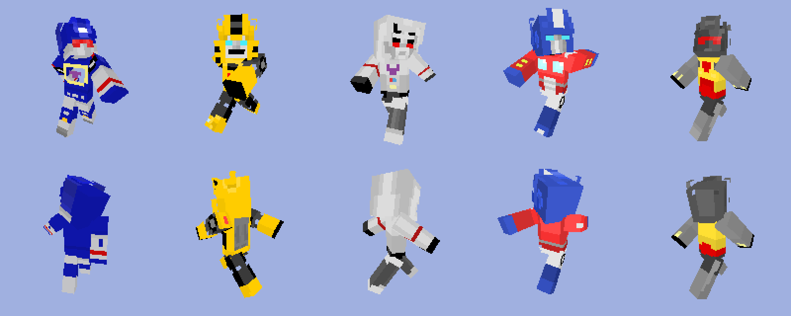 Minecraft Transformers Skins By Unconceivable On Deviantart
