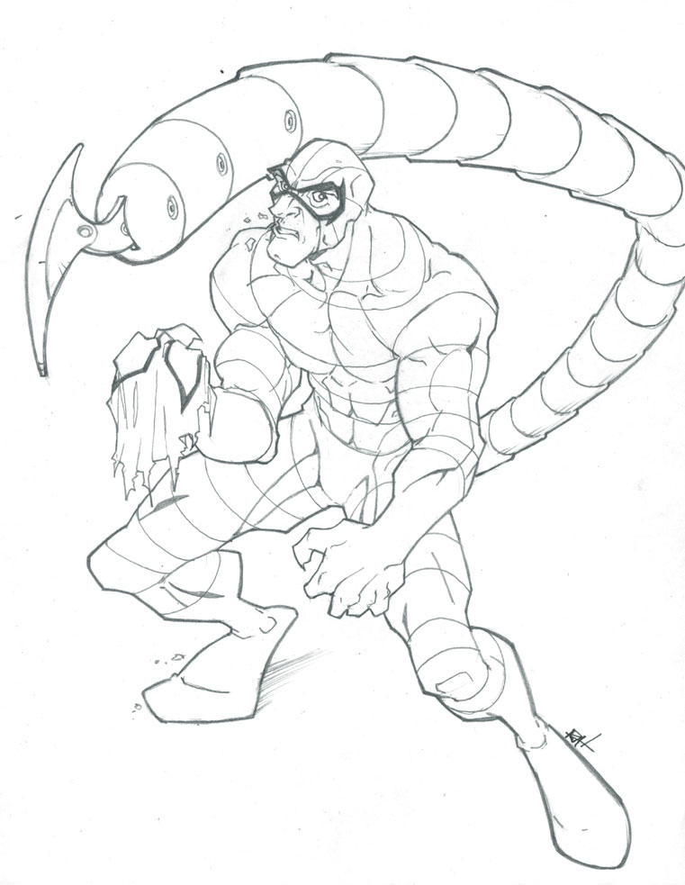 The scorpion by raheight2002 2012 on deviantart for Scorpion coloring page