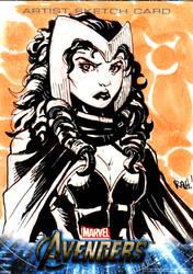 Avengers Sketch Card Scarlet W by RAHeight2002-2012
