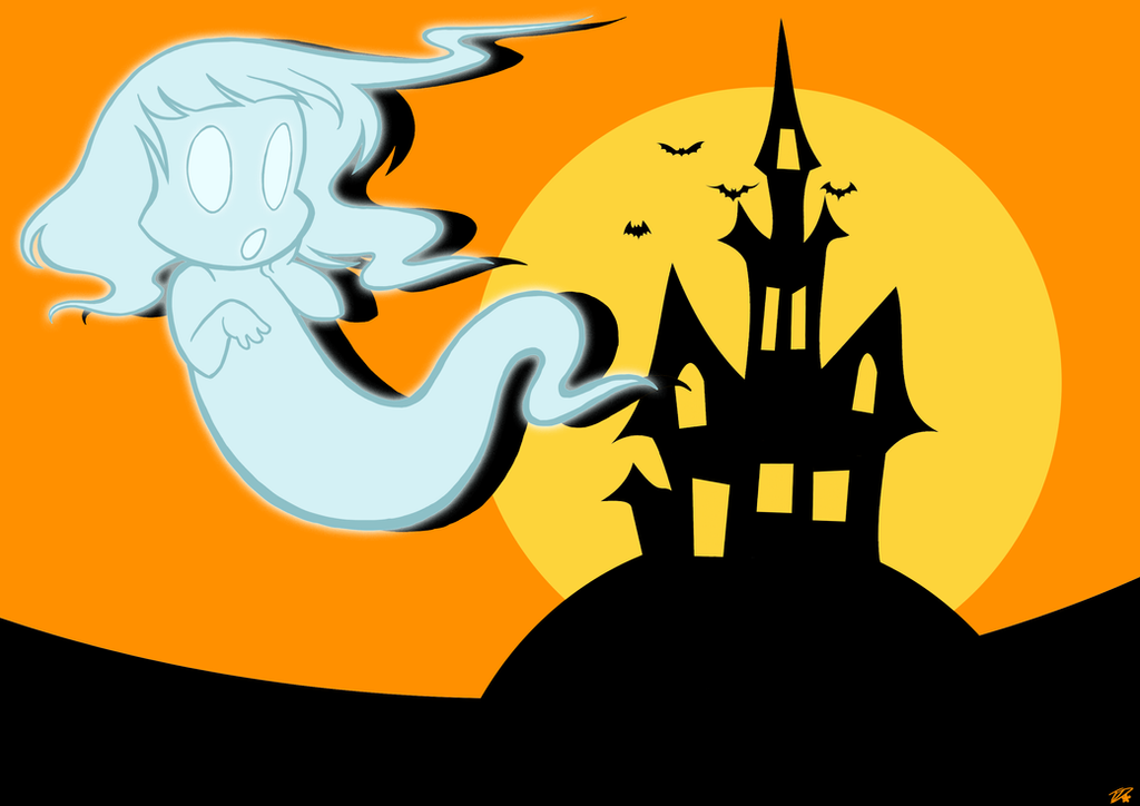 Halloween Party Poster - Ghost by Twinkel13