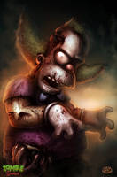 Zombie Simpsons: Krusty the clown by Jimmy-Synthetic