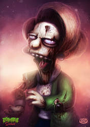 Zombie Simpsons: Mrs Krabapple by Jimmy-Synthetic