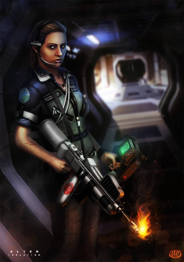 NECA Alien Isolation Amanda Ripley Space Suit Jump Suit