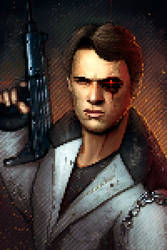 Terminator Pixel art by Jimmy-Synthetic