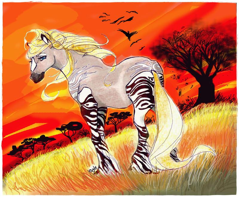 Half zebra, half horse by LisbethNevermore on DeviantArt