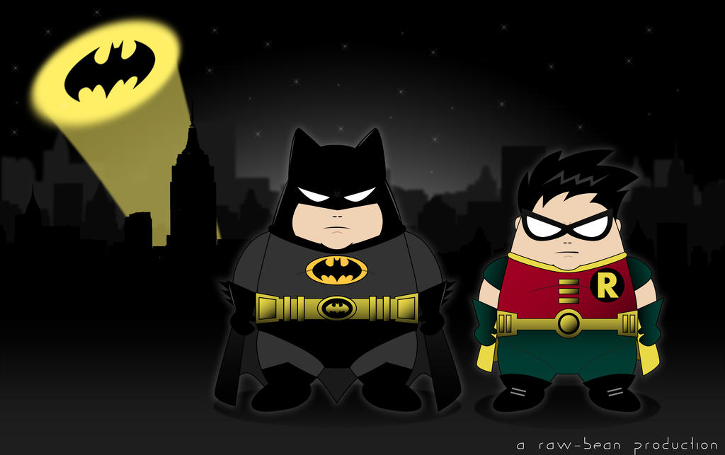 Fatman and Robin by jaysquall