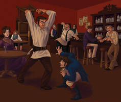 BARFIGHT by parttimeninja