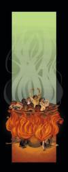 Buddhist Cosmology: Hell by parttimeninja