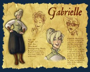 Character Design: Gabrielle by parttimeninja