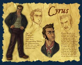 Character Design: Cyrus by parttimeninja