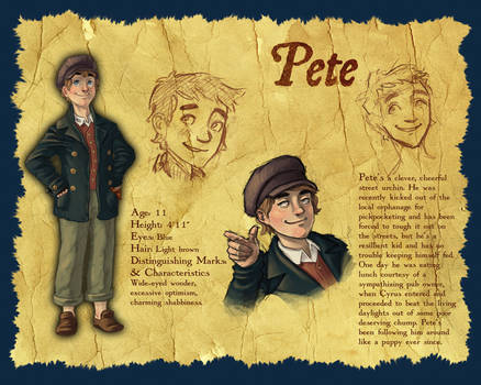 Character Design: Pete