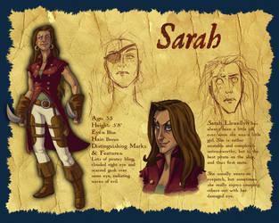 Character Design: Sarah by parttimeninja