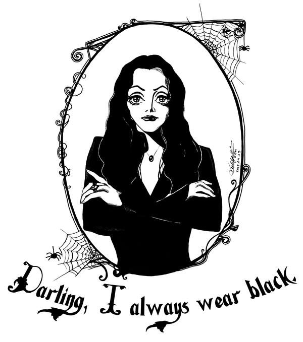 Darling, I always wear black. by Ascendead--Master