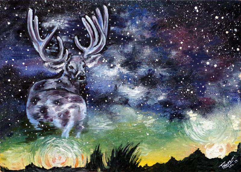 Galaxy Deer by Ascendead--Master