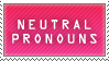 neutral pronouns stamp by ElIiot