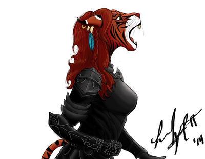Minau Dragonborn WIP by Buhzooka
