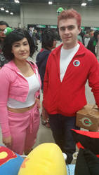 Regina Fan Expo 2016 Amy and Fry by QTZephyr