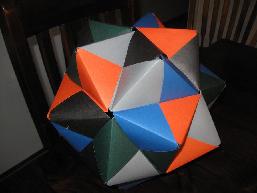 origami icosahedron by saston on deviantart