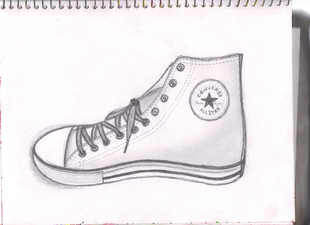 How To Draw Converse Shoes Easy