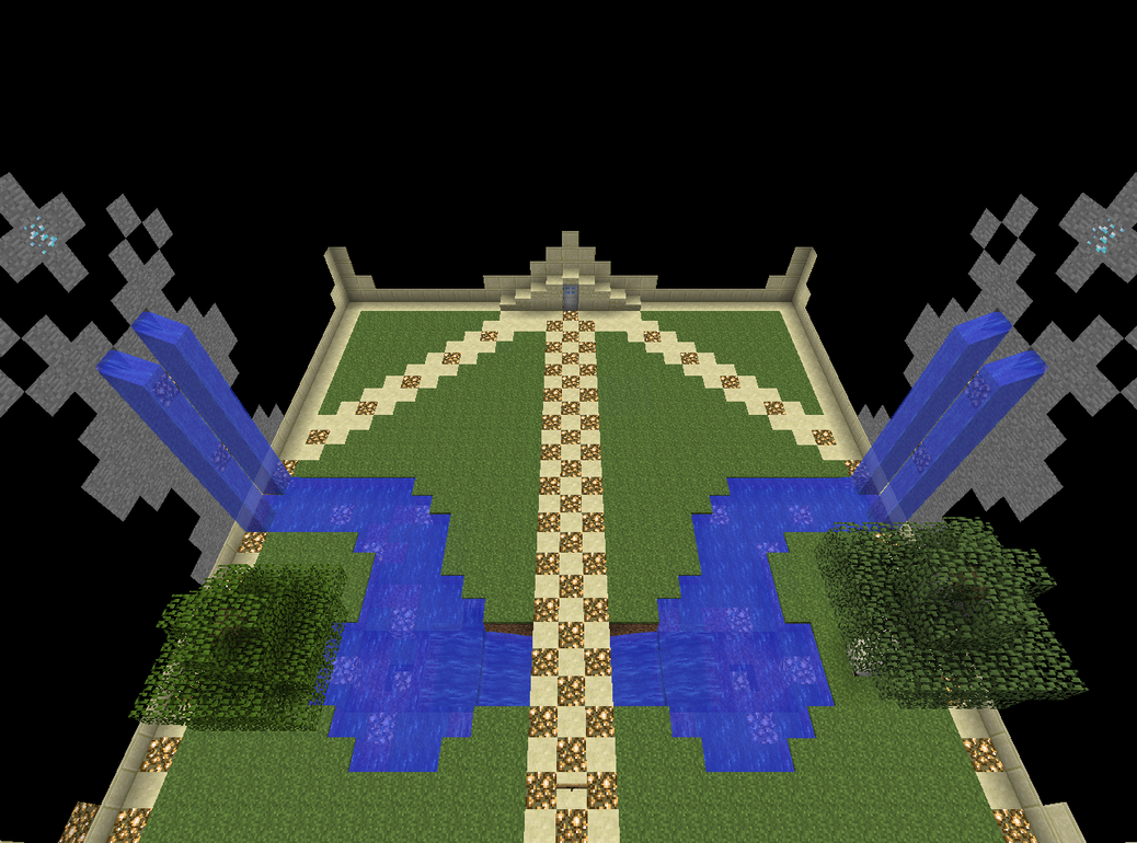 a simple minecraft zen garden by kolotho115 on deviantart