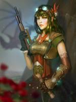 Steampunk Warrior by BilberryCat