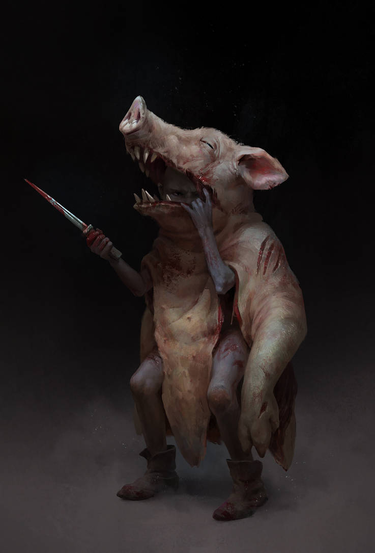 Pighead by BilberryCat