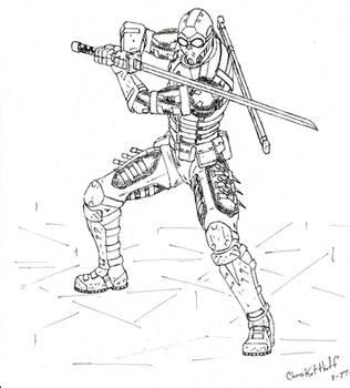 Cyberpunk Ninja concept by Steel-Raven