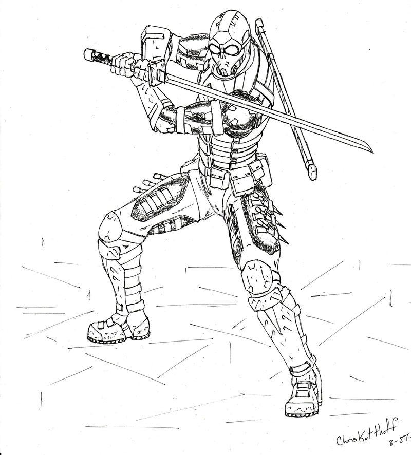 Line Art Ninja : Cyberpunk ninja concept by steel raven on deviantart