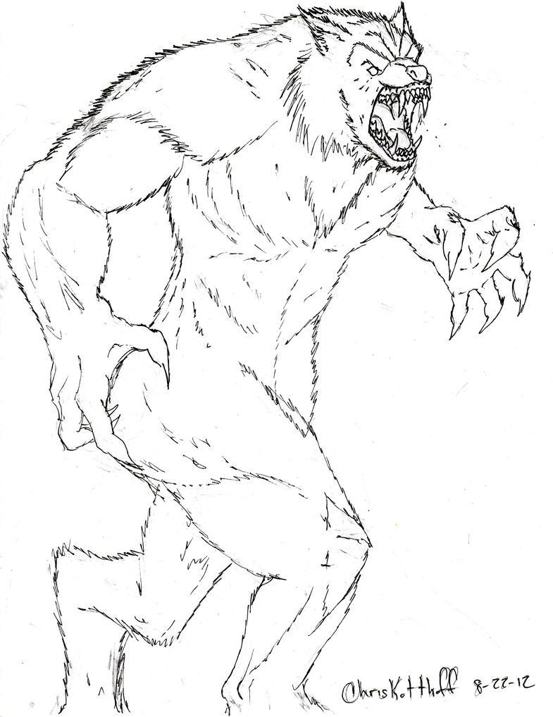 Werewolf sketch by Steel-Raven