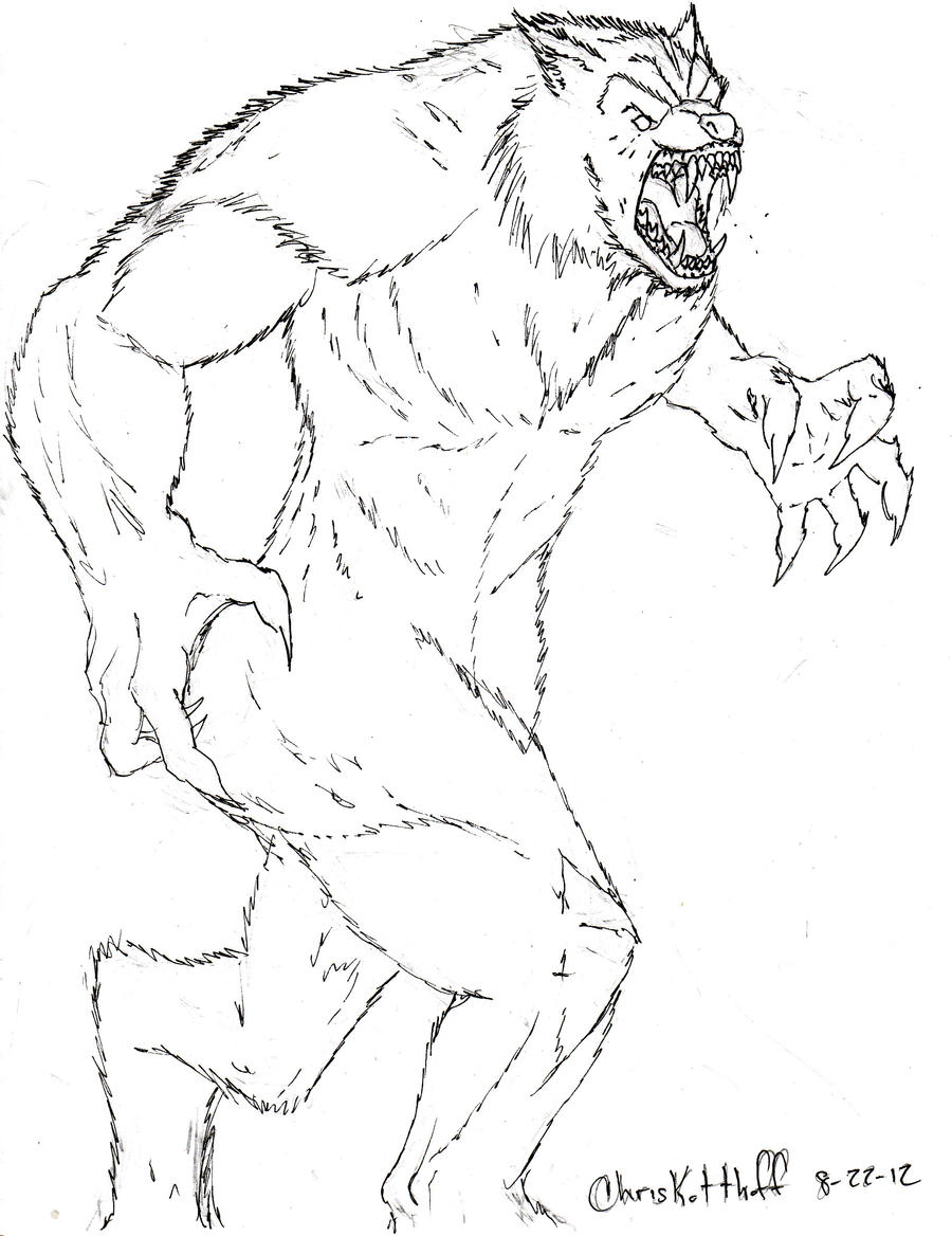 Werewolf sketch by Steel-Raven