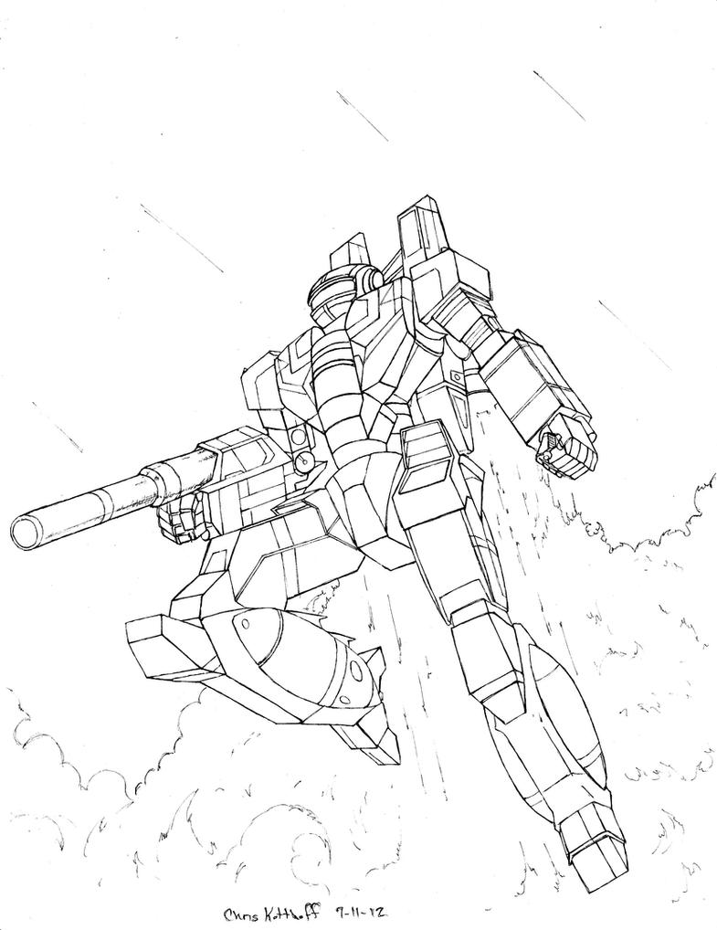 Strider's Strikers Phoenix Hawk by Steel-Raven