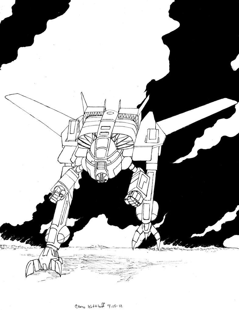 Strider's Strikers Hussar Land Air Mech by Steel-Raven