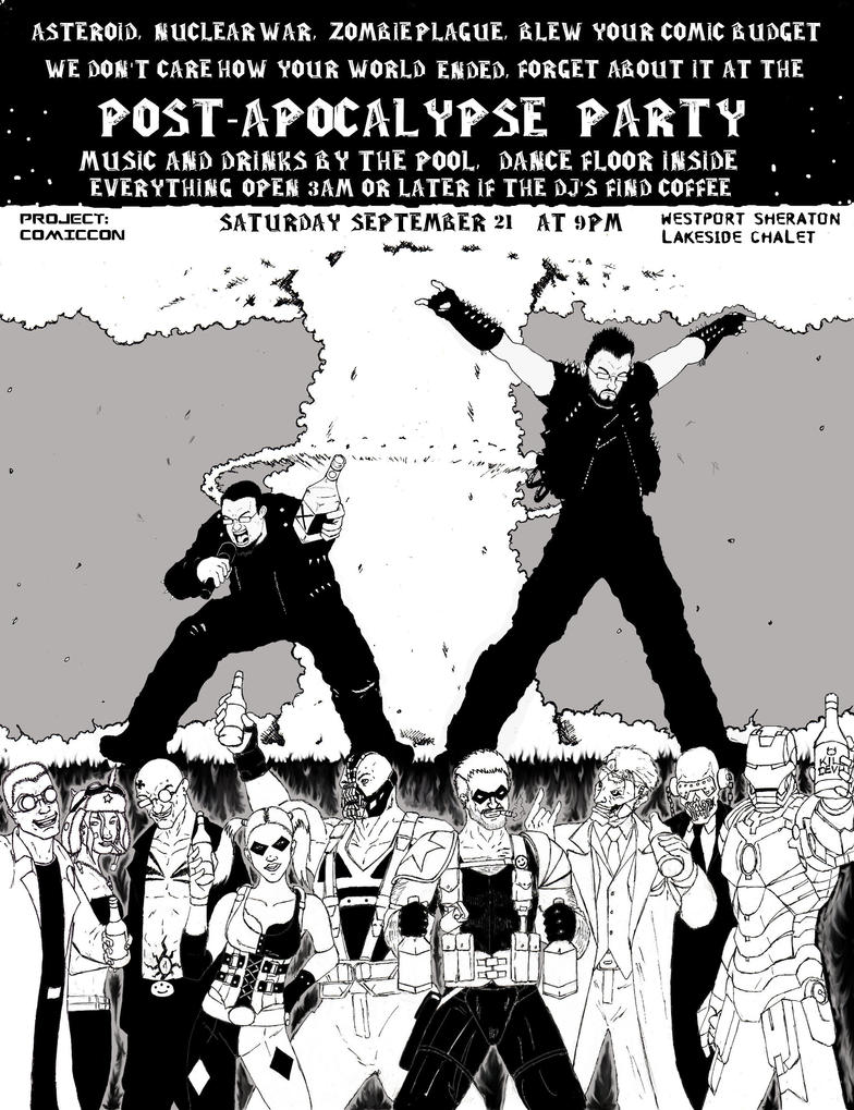 Underfiend Radio Post Apocalypes After Party Flyer by Steel-Raven