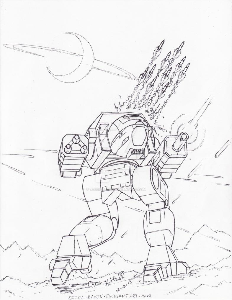 Battletech: Dire Wolf by Steel-Raven