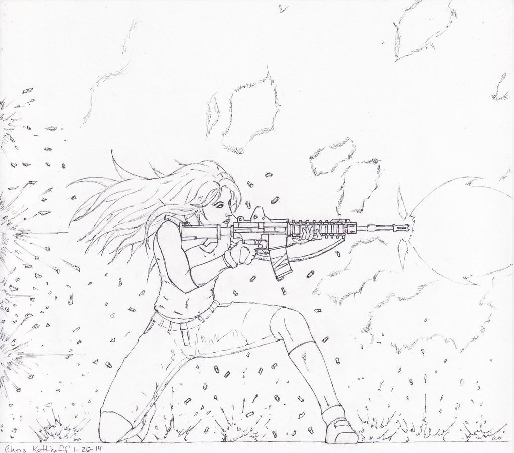 Alexandra, Firefight by Steel-Raven