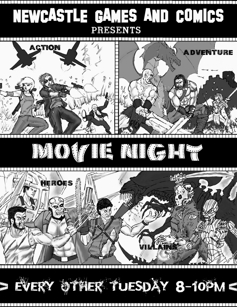 Movie Night Poster by Steel-Raven