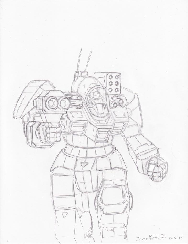 Battletech WIP: Battle Master sketch by Steel-Raven