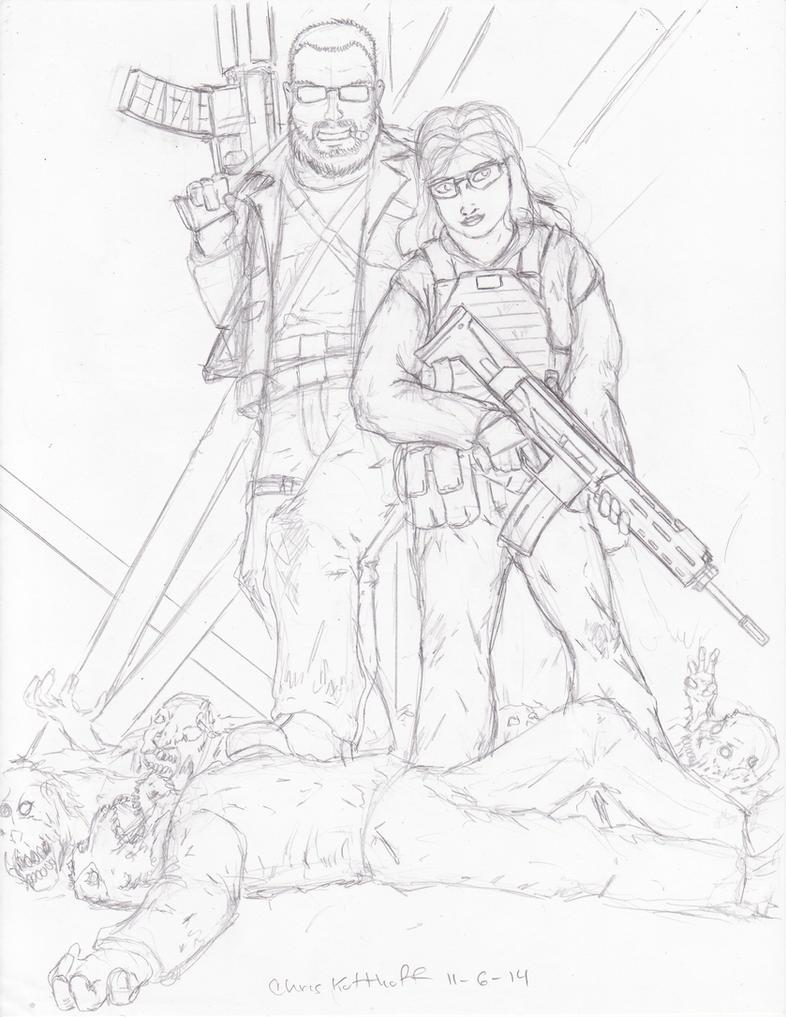 WiP: Battle Creek Zombie Hunters by Steel-Raven